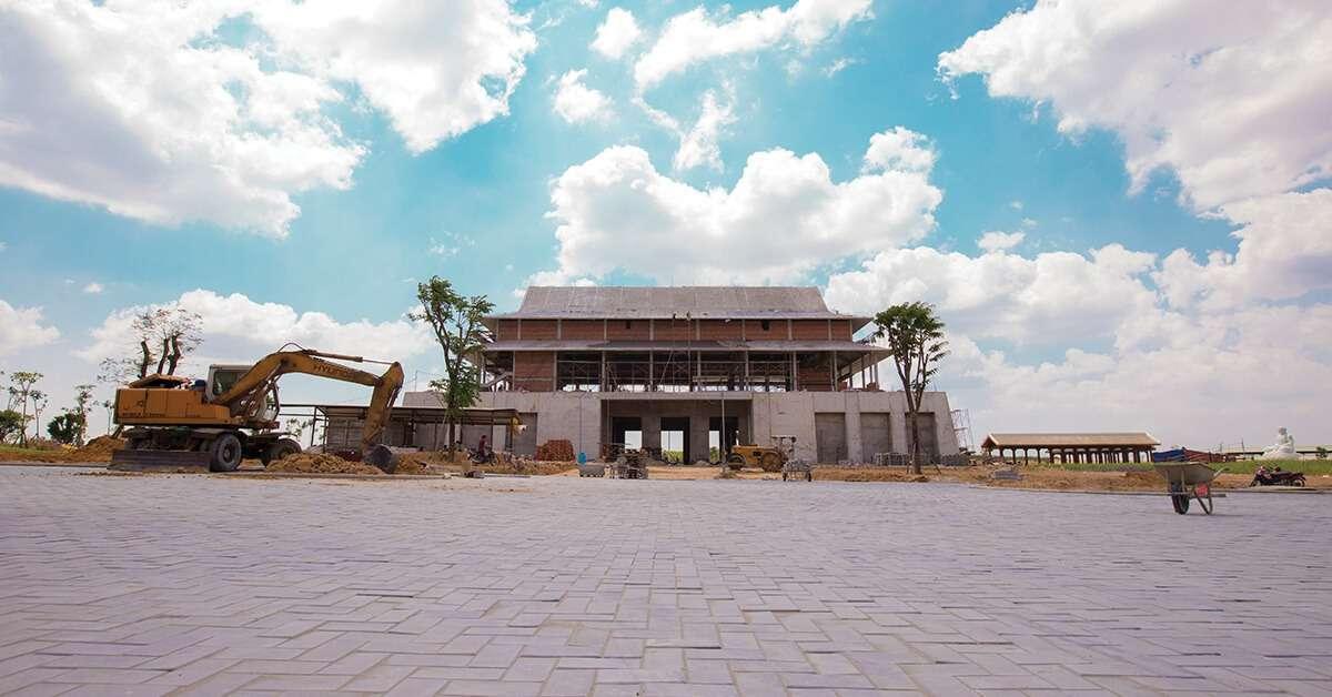 Hình ảnh tiến độ dự án hoa viên nghĩa trang cao cấp tháng 02-2019