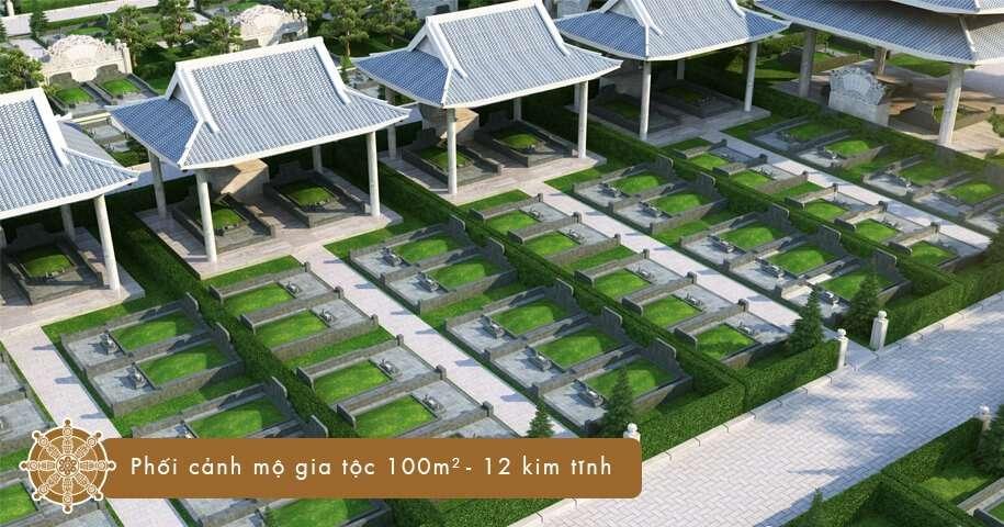 Mộ gia tộc 100 m2 - 12 kim tĩnh tại Sala Garden