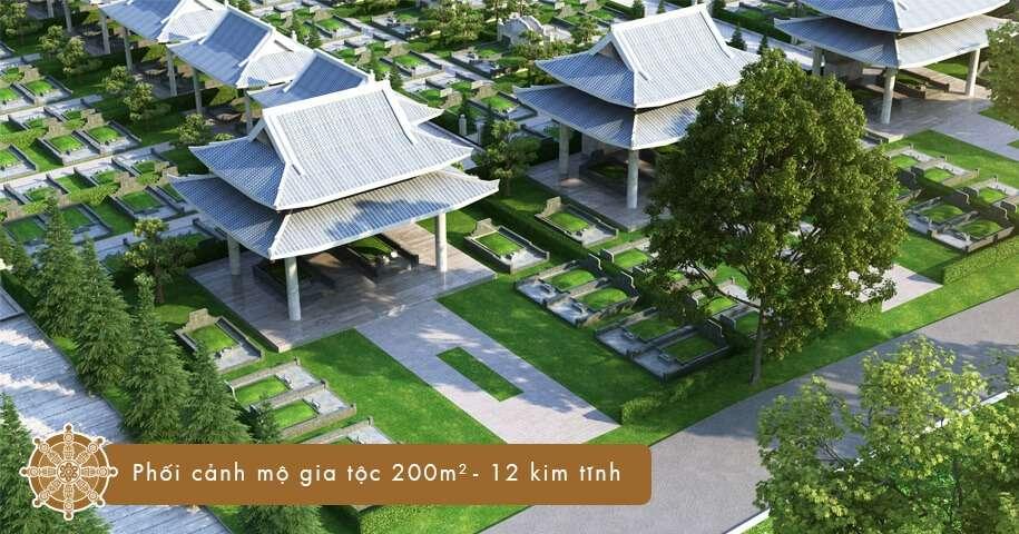 Mộ gia tộc 200 m2 - 12 kim tĩnh tại Sala Garden