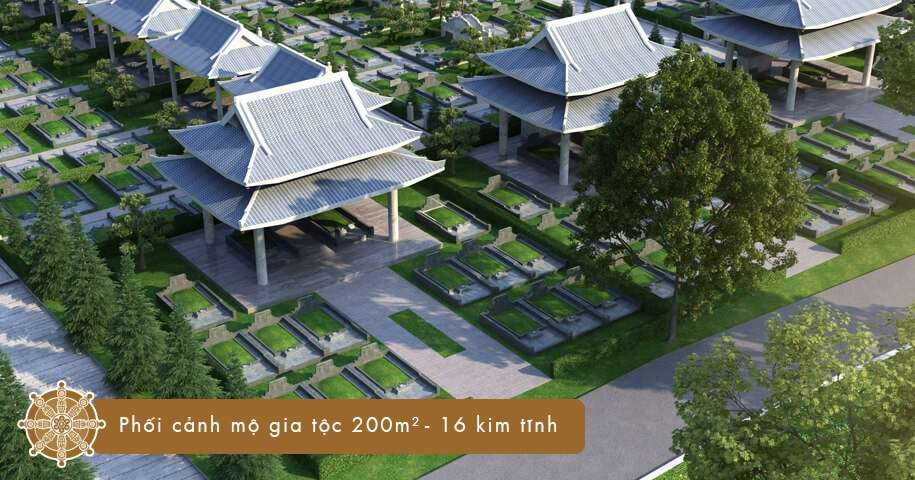 Mộ gia tộc 200 m2 - 16 kim tĩnh tại Sala Garden