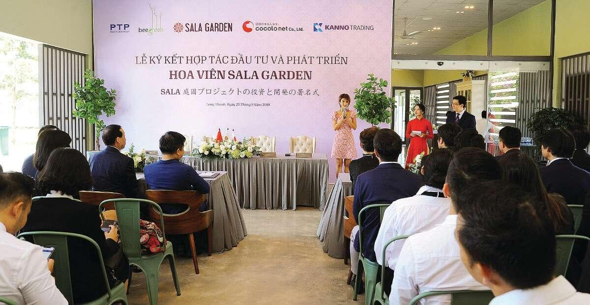 Lễ ký kết hợp tác đầu tư và phát triển hoa viên sinh thái Sala Garden